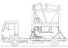 Målarbild truck - sandblandare
