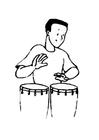 Målarbild trummis