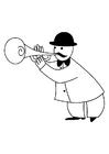 Målarbild trumpetare