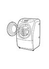 Målarbild tvättmaskin