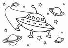 Målarbild UFO