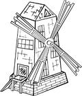 Målarbild väderkvarn