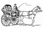 Målarbild vagn - droska