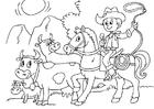 Målarbild vakta boskap