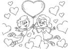 Målarbild Valentin-barn