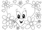 Målarbild Valentin-blommor