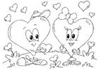 Målarbild Valentin-hjärtan