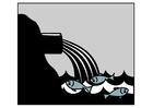 Målarbild vattenförorening