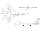 Målarbild Vigilante A5 jaktflygplan