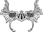 Målarbild vikingahjälm