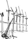Målarbild vindkraftverk