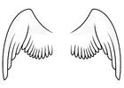 Målarbild vingar