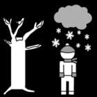 Målarbild vinter
