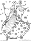 Målarbild Vinterfe