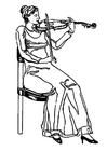 Målarbild violinist