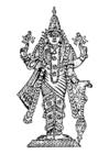 Målarbild Vishnu