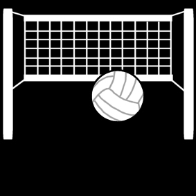 Målarbild volleyboll