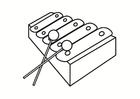 Målarbild xylofon