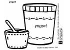 Målarbild Yoghurt
